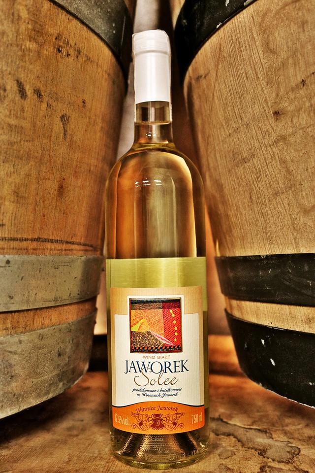 Wino białe półsłodkie Jaworek Solee 2016