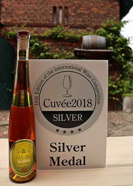 Srebrny medal Cuvee2018 dla Jaworek Miodowe