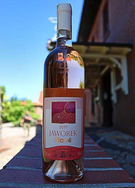wino różowe wytrawne Jaworek Rose 2017